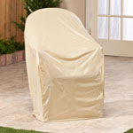 Outdoor Décor - Beige Chair Cover