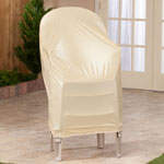 Outdoor Décor - Beige Stacking Chair Cover