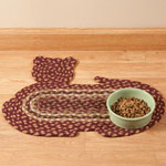 Pets - Cat Shaped Braided Rug