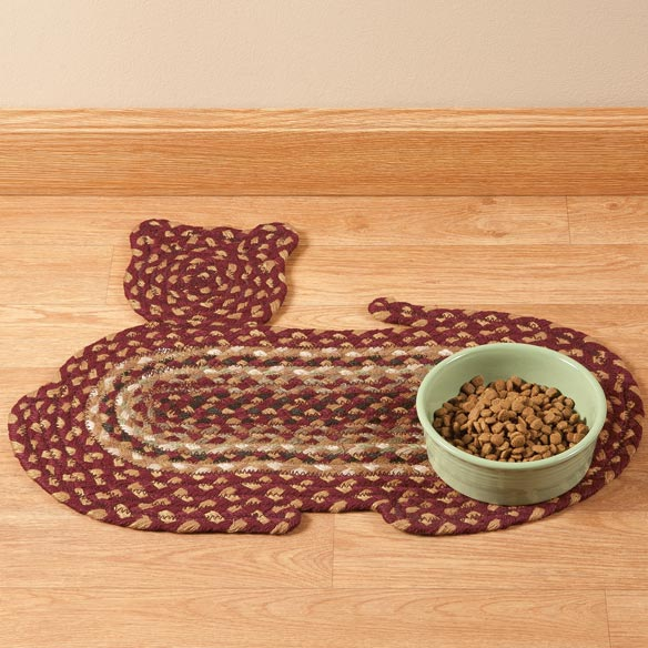 Cat Shaped Braided Rug