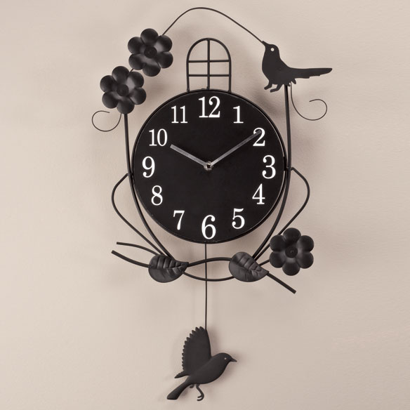 Atomic Swinging Bird Pendulum Clock - View 1
