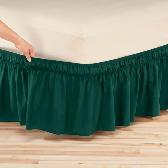 Solid Wrap Around Elastic Bed Skirt by OakRidge™ - View 1