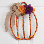 Flash Sale - Pumpkin Grapevine Wreath