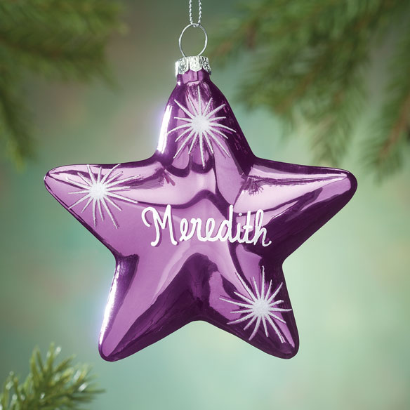 Personalized Birthstone Star Ornament - View 1