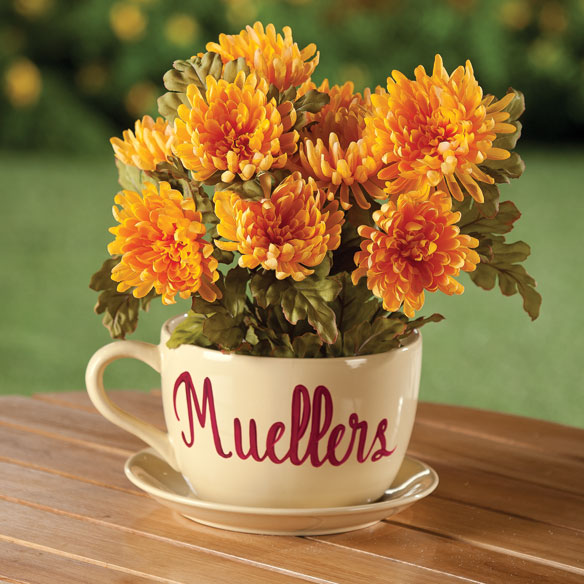 Personalized Teacup Planter