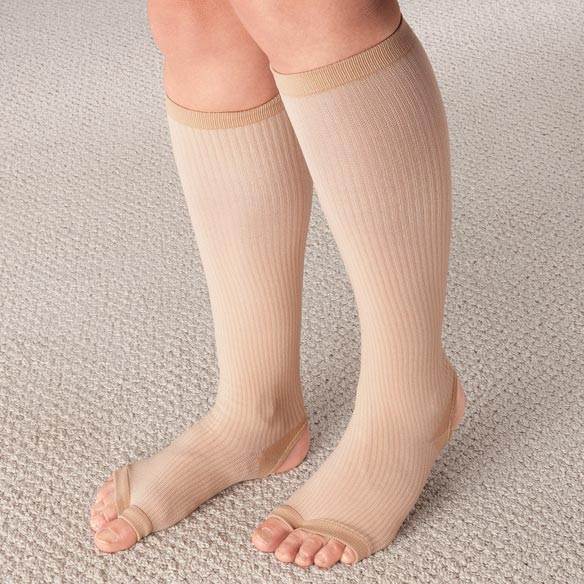 Stirrup Compression Stockings with Gel, 15–20 mmHg