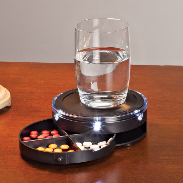 LED Nightstand Caddy with Pill Storage - View 1