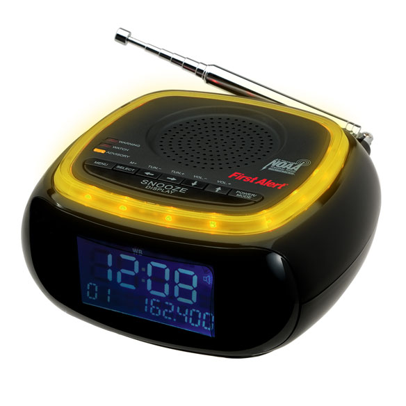 First Alert® Weather Band Clock Radio