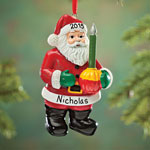 Decorations & Storage - Personalized Bubble Light Santa Ornament