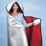 Safe Holiday Travel - Hooded Emergency Blanket by LivingSURE™