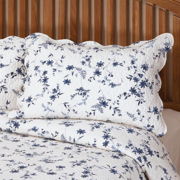 Blue Floral Sham by East Wing Comforts™