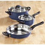 Home-Style Kitchen - 5-pc. Blue Stainless Cookware Set by Home-Style Kitchen™