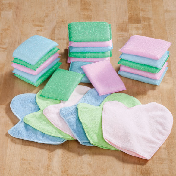 Sponge and Cleaning Mitt Set, 24 Pc.