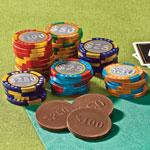 Candy & Fudge - Milk Chocolate Mixed Casino Chips