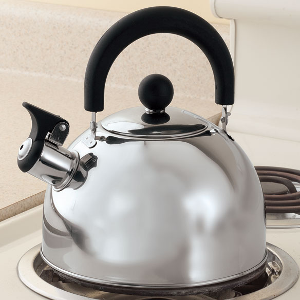 Stainless Steel Whistling Tea Kettle by Home-Style Kitchen™ - View 1