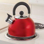 Home-Style Kitchen - Red Whistling Tea Kettle by Home-Style Kitchen™