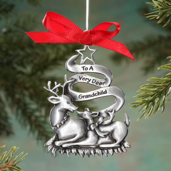Very Dear Grandchild Pewter Ornament