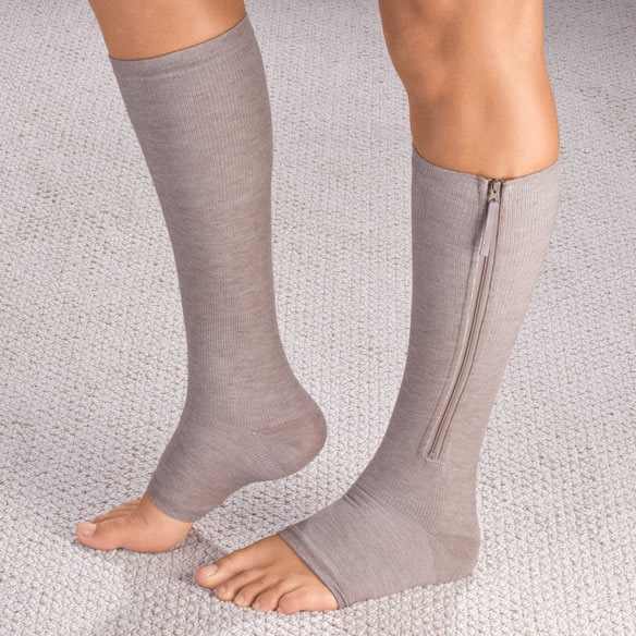 Magnetic Zipper Compression Socks - View 1