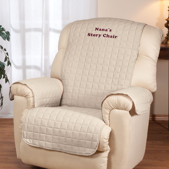 Personalized Beige Recliner Cover by OakRidge Comforts™