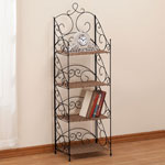 OakRidge Accents - Four Tier Wicker & Metal Shelves by OakRidge Accents™