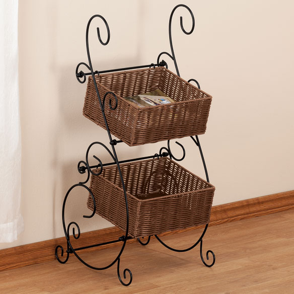 Wicker & Metal Storage Baskets by OakRidge™ Accents