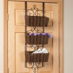OakRidge Accents - Over the Door Wicker & Metal Baskets by OakRidge Accents™
