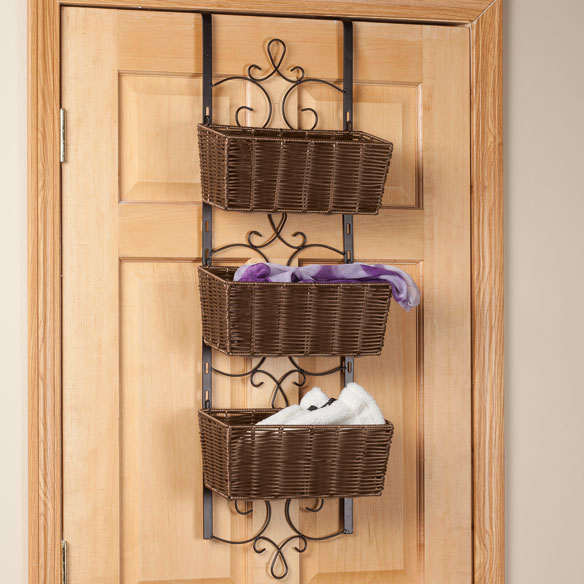 Over the Door Wicker & Metal Baskets by OakRidge Accents™