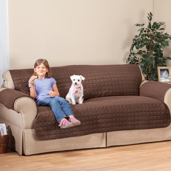 Microfiber Extra-Large Sofa Protector by OakRidge Comforts™ - View 1