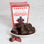 Candy & Fudge - Sanders Dark Chocolate Mini Raspberry Sorbet Hearts