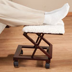 OakRidge Accents - Sherpa Wooden Footrest by OakRidge™ Accents