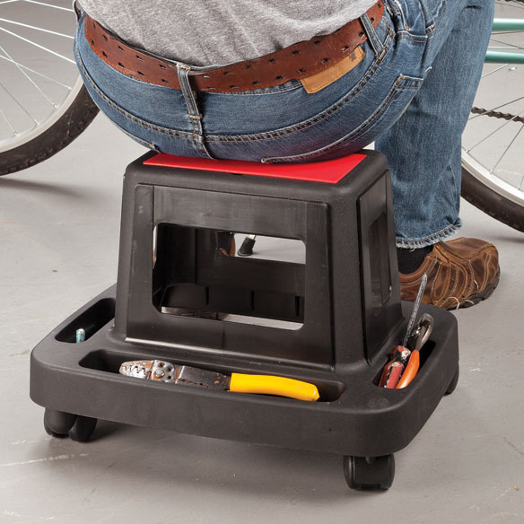 Rolling Utility Seat with Storage - View 1