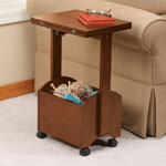 OakRidge Accents - Rolling Folding Side Table by OakRidge Accents™