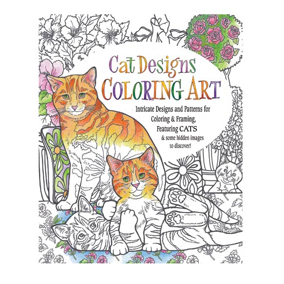 Cat Designs Coloring Book