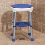 Bath Accessories - Compact Swivel Stool
