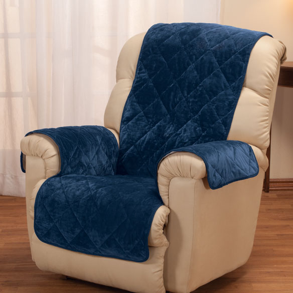 Fine Velvet Recliner Protector by OakRidge Comforts™ - View 1