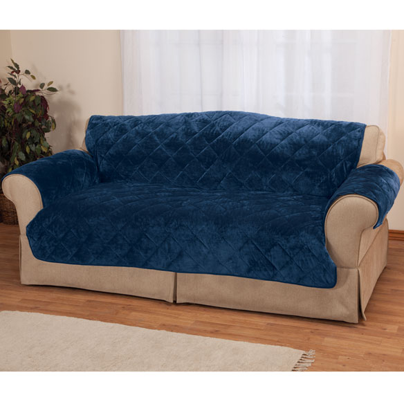 Fine Velvet Loveseat Protector by OakRidge Comforts™ - View 1