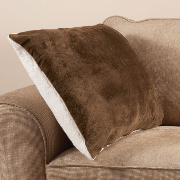 Reversible Sherpa Snuggle Pillow - View 1