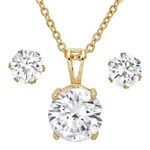 HMY Jewelry Collection - CZ Earring and Necklace Set