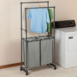 Clothes Care - Clothing Rack with Hampers