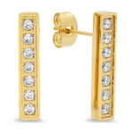 HMY Jewelry Collection - CZ Bar Earrings