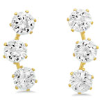HMY Jewelry Collection - CZ Ear Climber Earrings