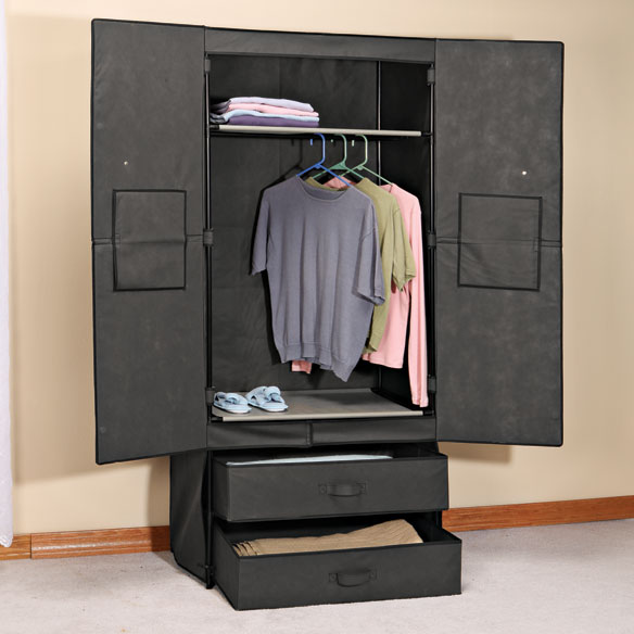 Clothing Wardrobe with Magnetic Doors