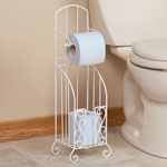 OakRidge Accents - Toilet Paper Stand with Storage by OakRidge Accents™