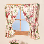 Bedroom Basics - English Floral Window Curtains