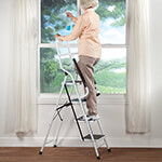 Gifts for Him - Folding Four Step Ladder with Handrails