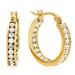 HMY Jewelry Collection - Swarovski Elements Hoop Earrings