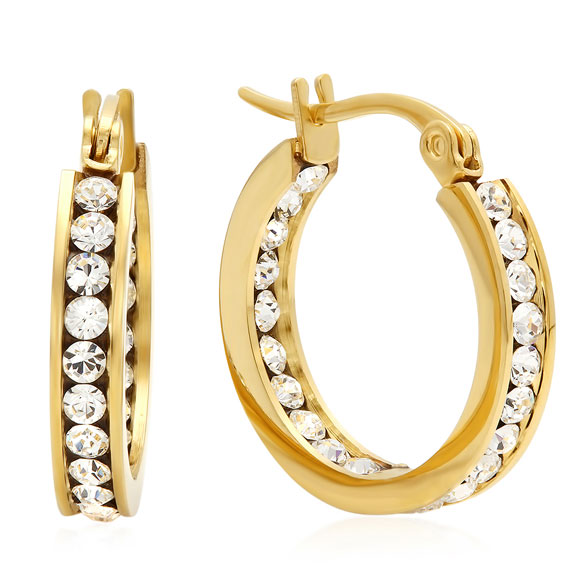 Swarovski Elements Hoop Earrings