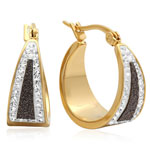 HMY Jewelry Collection - Black Diamond Dust Hoop Earrings