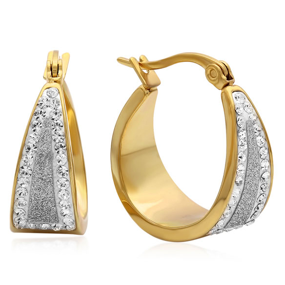 Diamond Dust Hoop Earrings