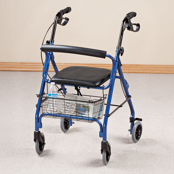 Aluminum Lite 4-Wheel Rollator - View 1